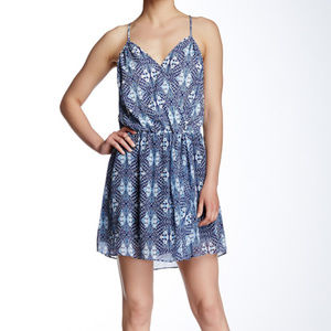 Anthropologie heartloom blue white print dress NEW